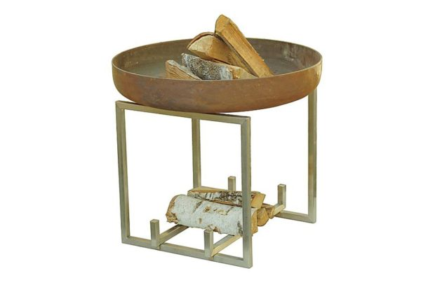 Rust (carbon) and stainless steel unique fire pit Nagliai