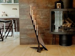 Contemporary Design Floor-Standing Candle Holder SMILTE