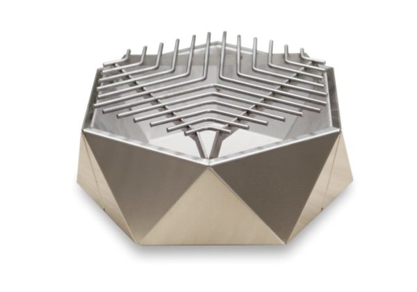 Stainless steel charcoal tabletop grill Curonian