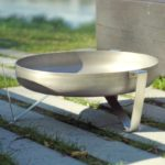 Agila Fire Pit Pure Stainless Steel Bowl and Legs