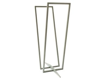 Modern log rack transparent silver-grey