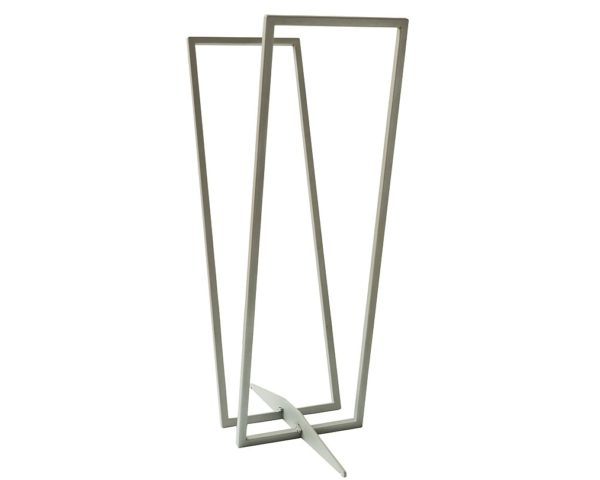 Modern log rack transparent silver-grey