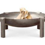 Tilsit fire pit wood burning rusting (carbon) steel
