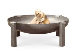 Tilsit fire pit wood burning rusting (carbon) steel