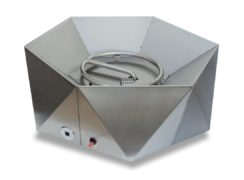 Junda Propane (Gas) Stainless Steel Fire Pit